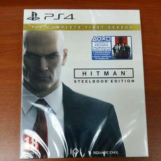 (Brand New) PS4 Hitman The Complete First Season Steelbook Edition With Bonus Downloadable Contents / R2