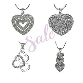 Austrian Crystal Rodium Plated Pendant Android Chain