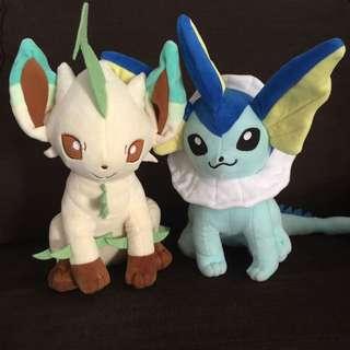 Pokemon Leafeon & Vaporeon