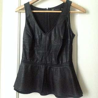 ZARA - Faux Leather Peplum