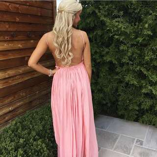 Open Back Pink Dress