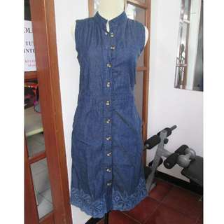 Denim dress size s