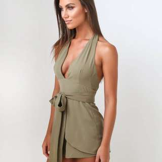 Tiger Mist Khaki Playsuit / Romper