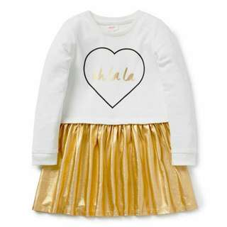 Seed Girls Dress Size 2 3 Gold Party Brand NEW