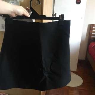 Zara A Line Black Skirt