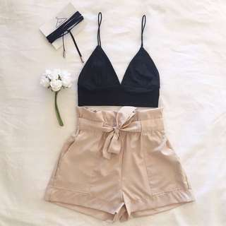 Crop Top And Shorts Set
