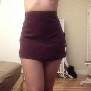 WILFRED FREE - Mauve Mini Skirt