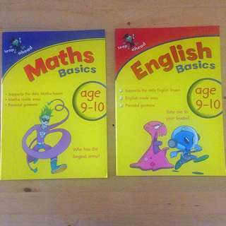 English & Maths Activity Books For Age 9-10y