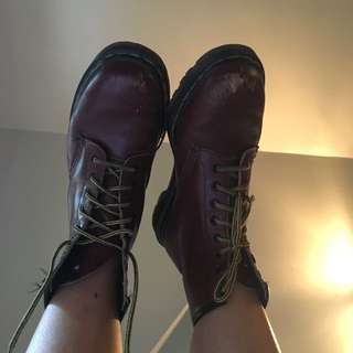 Ox Blood Doc Martens !