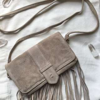 NEW Leather/suede Beige Shoulder Bag