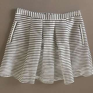 Forever 21 Fully Lined Striped Skirt Size m
