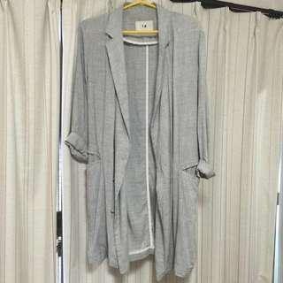 Nude 灰色薄西裝外套