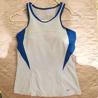 Nike Gym Sport Top With Built In Bra
