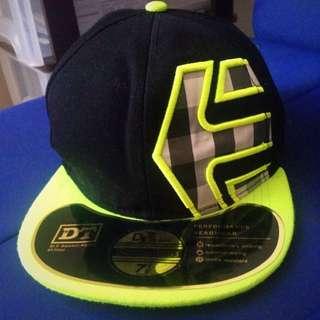 Black & Neon Green Snapback Cap