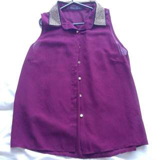 Purple/maroon Top
