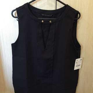 Zara Black Sleeveless Top
