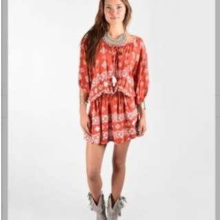 Faithfull The Brand - Sifnos Dress in Terracotta (size S)