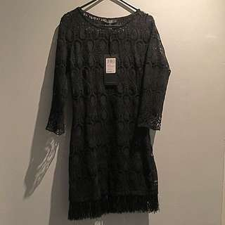 Black Lace Dress New With Tags