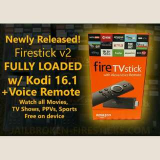 Newest Amazon Fire TV Stick w/Alexa Voice Remote, Loaded w/Kodi 17.0, Mobdro, Movies, PPV, Live TV, XXX