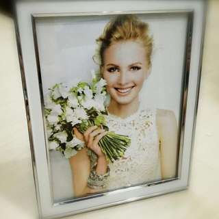 """8""""x10"""" Photo Frame With White & Silver Lining"""