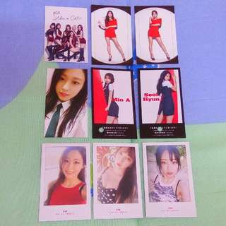 AOA Official Photocard (Like A Cat Heart Attack Ace Of Angels Japan Good Luck)