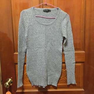 QS 灰色針織上衣