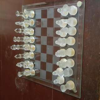 Glass Chessmaster Set