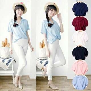 Baju Atasan Wanita Murah/Atasan Korea Import - Natasha Shirt Premium