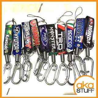 Lanyard with Metal Key Holder Keychain with Car and Motorcycle Brands