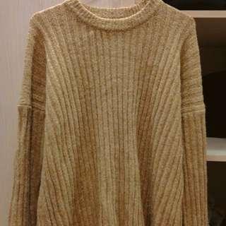🚚 降價💸駝色寬鬆毛衣