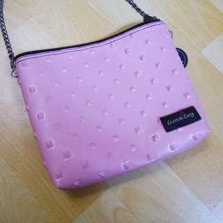 【九成新】粉色曼谷包