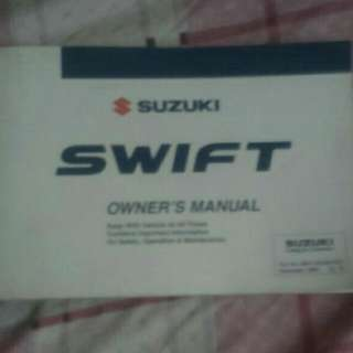 Suzuki Swift Manual Book