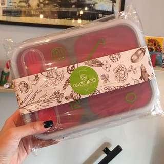nisoro伸縮餐盒 紅色/綠色