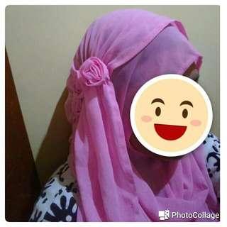 Jilbab Instan Sifon Ceruty Bunga