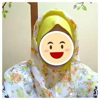 Jilbab Instan Sifon Ceruty Motif