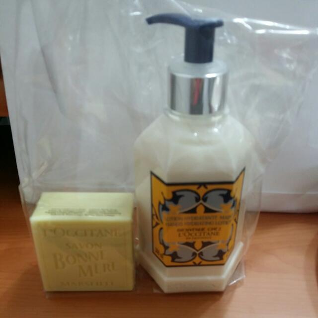 歐舒丹普羅旺斯家居潤手乳300ml+媽媽保姆檸檬皂100g(含運)