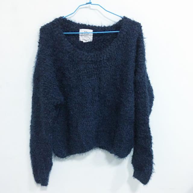 50%深藍毛衣