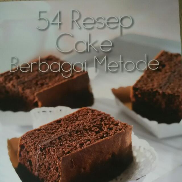 54 Resep cake berbagai metode