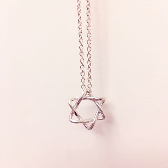 六芒星925純銀項鍊