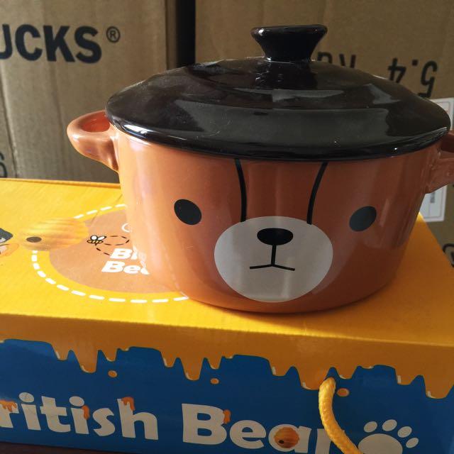 英國熊🇬🇧雙耳蓋碗附匙