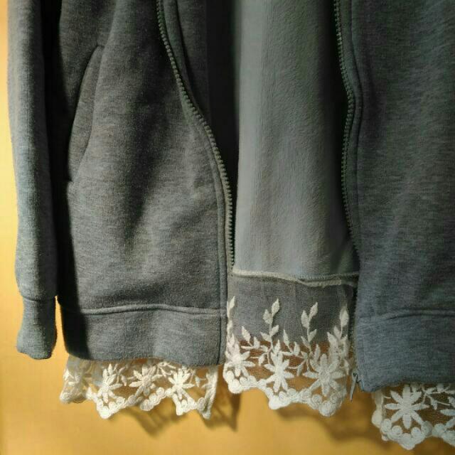 日系🇯🇵灰色連帽外套