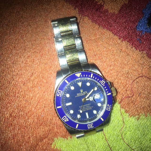 大牌  勞牌錶   藍色    水鬼