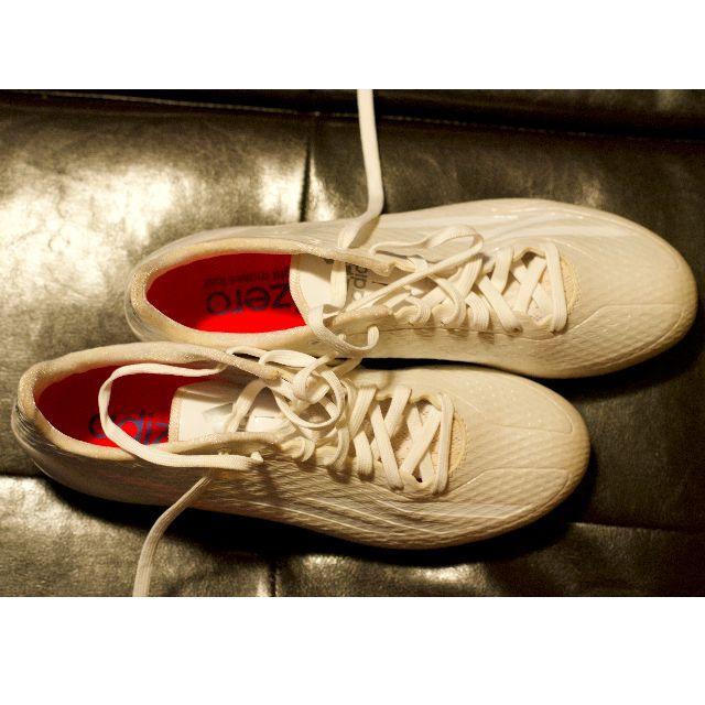 Adidas ADIZERO, white soccer Cleats - Men's size 9us