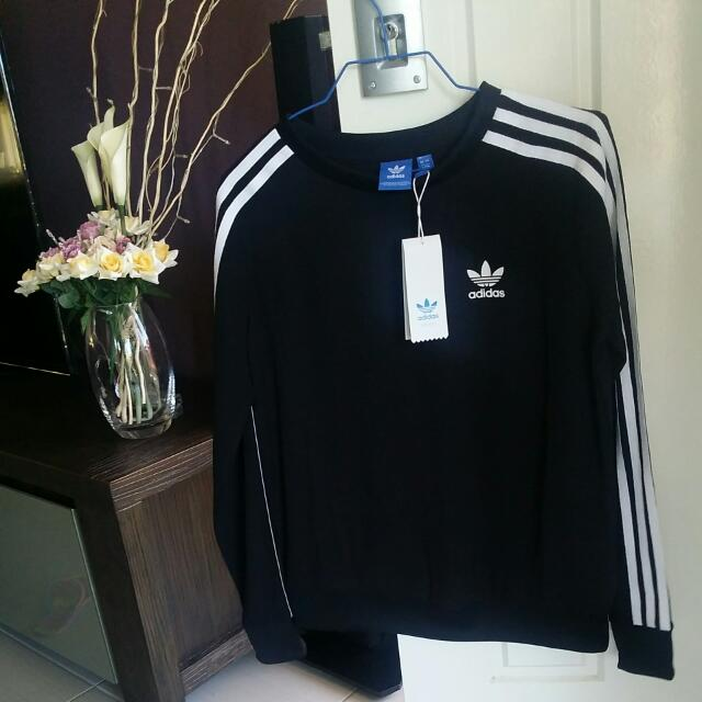 ADIDAS Chiffon 3 Stripe Sweatshirt Size UK8