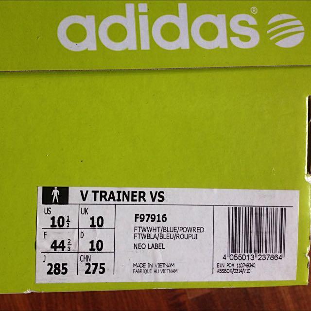 Adidas Neo V Trainer VS Shoe, Men's Fashion, Footwear on