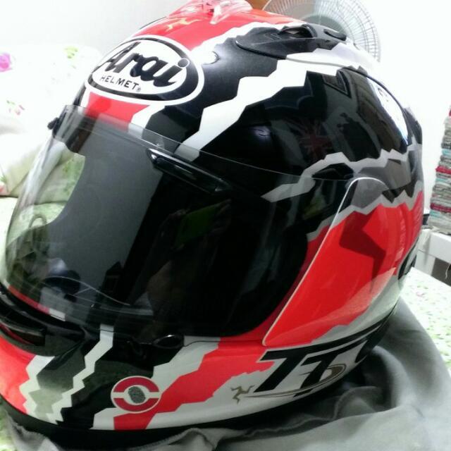 日本Arai安全帽RX-7杜漢RR5選手彩繪Mick Doohan IoM TT白底黑白紅[Replica曼島限定版] 重機