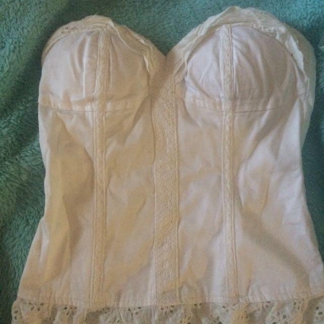 Bardot corset style shirt