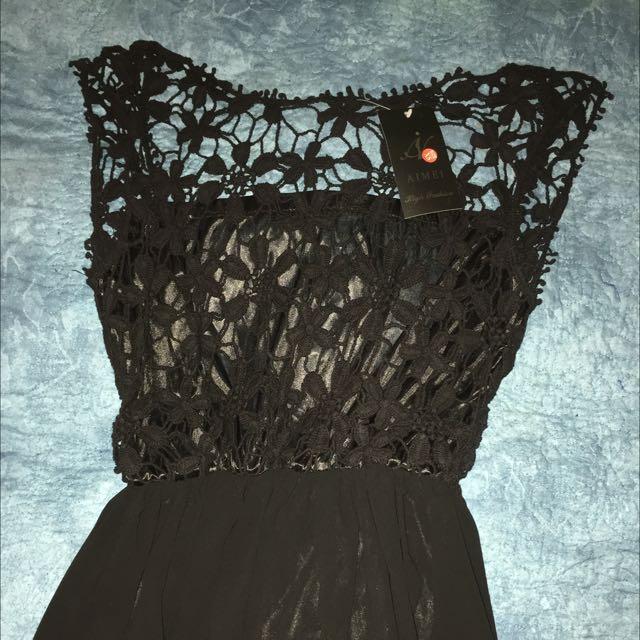 Black Silk Formal Dress