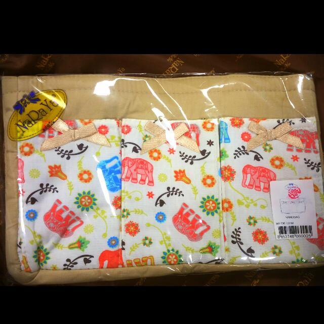 (BN) Naraya Elephant Print Handbag/handbag Organizer/ Lunch Bag