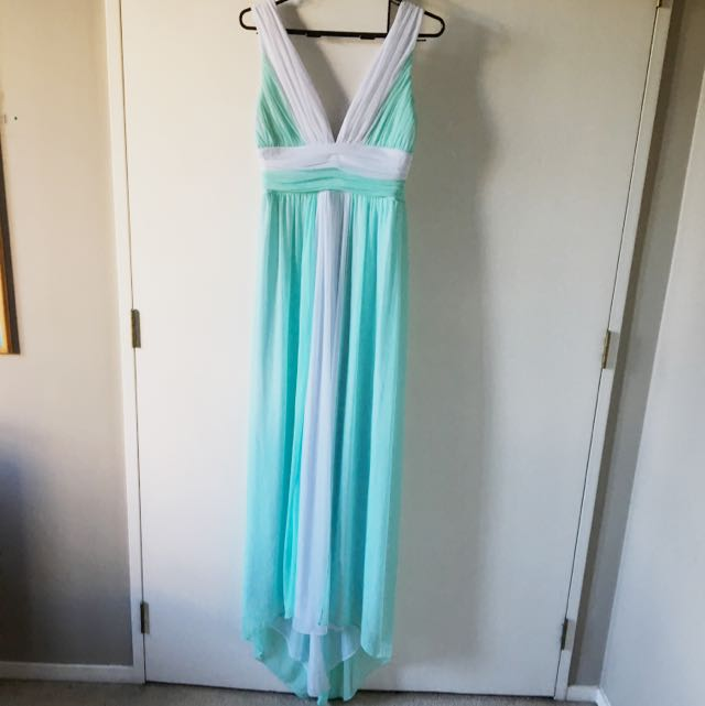 Brand New Mint Green And White Dress - Size 10